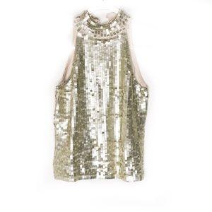 White House black market sequin silk top small